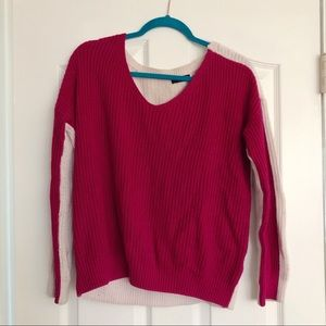 Two-tone Pink Sweater (URBAN OUTFITTERS)